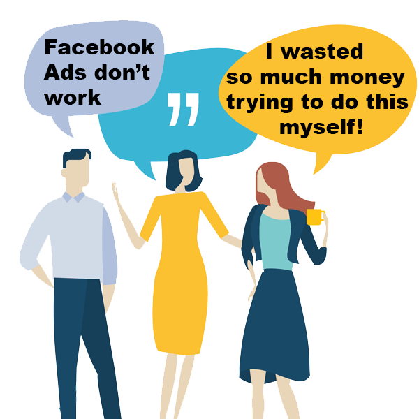 Facebook Ads don't work speech bubbles